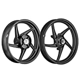 Speedwav Bike Alloy Wheels Black Set of 2 17/17 Inch Front/Rear Disc-Honda CBR 150R