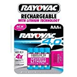 Rayovac AAA 4.0 Advanced Lithium rechargeable Batteries 4pk (4 Batteries)