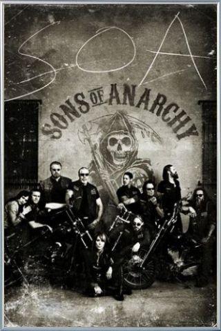 Sons Of Anarchy Poster Stampa e Cornice (Plastica) - Centauri SOA, Vintage (91 x 61cm)