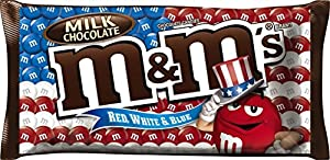 M&M'S Red, White and Blue Milk Chocolate Candy 11.4-Ounce Bag
