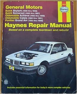 2000 pontiac grand am repair manual free
