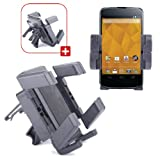 DURAGADGET Shake-Proof Car Air Vent Cradle Mount With Rotatable Mobile Phone Holder For Google Nexus 4