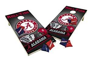 Wild Sports Wooden Cornhole Set - Alabama Crimson Tide