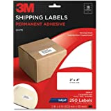 3M Permanent Adhesive Shipping Labels, 2 x 4 Inches, White, 250 per Pack (3200-S)