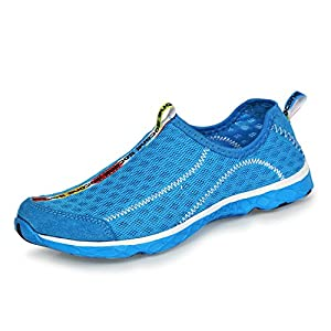 Aleader Women's Mesh Slip On Water Shoes Red 6 D(M) US