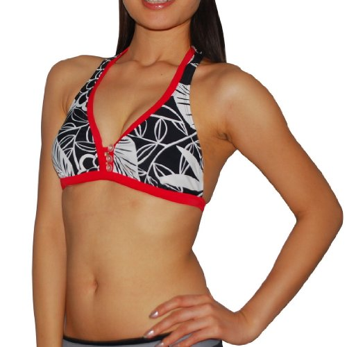 Body Glove Womens Pure Beauty Soft Padded Wireless Bra / Surf & Swim Bikini Top - Quick Dry