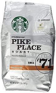 Starbucks Pike Place Roast Ground Coffee, Medium Roast (32 oz bag) from Starbucks