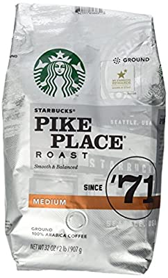 Starbucks Pike Place Roast Ground Coffee, Medium Roast (32 oz bag) from Starbucks