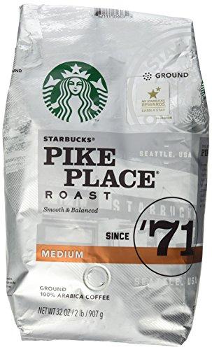 Starbucks Pike Place Roast Ground Coffee, Medium Roast (32 oz bag) (Starbucks Ground Coffee Roast compare prices)