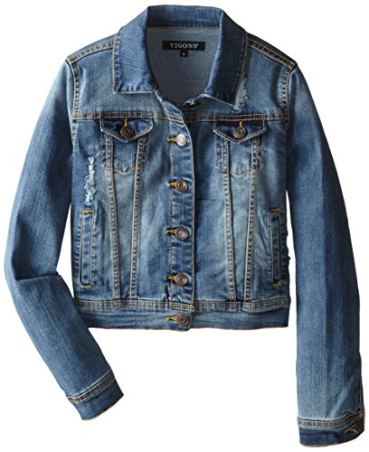 Vigoss Big Girls Denim Jacket, Memory, Small