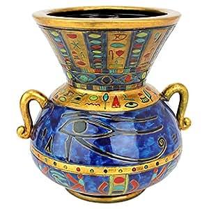 Amazon.com: Design Toscano Eye of Horus Egyptian Vase: Home & Kitchen