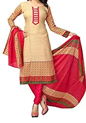 Look Smart Women's Polycoton Unstitched Dress Material (TAANI CHIKU_Multicolor_Free Size)