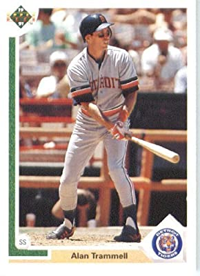 1991 Upper Deck # 223 Alan Trammell Detroit Tigers - MLB Baseball Trading Card
