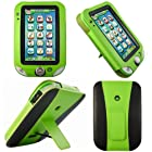 Evecase Kid-Friendly Leather Case Cover with Built-in Stand for LeapFrog LeapPad Ultra Learning Tablet - Green/ Black