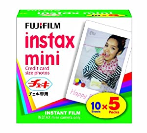 FUJIFILM Instax Mini Cheki Film 5pack(10picture X5)
