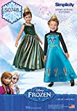 Simplicity Creative Patterns S0748 Frozen Coronation Day Costumes for Children, Size: A 3-4-5-6-7-8