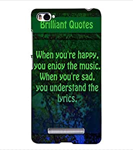 ColourCraft Quotes Back Case Cover for XIAOMI MI 4I