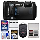 Olympus Tough TG-860 iHS Wi-Fi GPS Shock & Waterproof Digital Camera (Black) with 16GB Card + Case + Battery + Kit