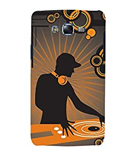 printtech Music DJ Abstract Back Case Cover for Samsung Galaxy E5 / Samsung Galaxy E5 E500F