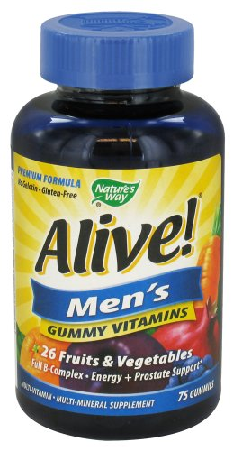Nature'S Way Alive! - Men'S Energy Gummy Multi-Vitamins - 75 Chewables