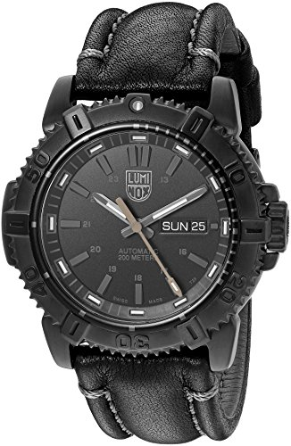 Luminox-Mens-Mariner-Swiss-Stainless-Steel-and-Leather-Automatic-Watch-ColorBlack-Model-6501BO
