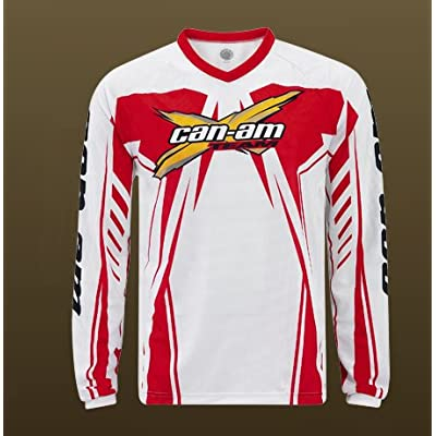 Amazon.com: CAN-AM Mens X Team Jersey MX Offroad Trail WHITE LG