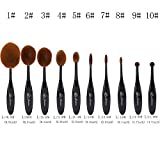 2016-High-Quality-10pcs-Foundation-Brush-Set-Powder-Blusher-Toothbrush-Curve-Cosmetic-Makeup-Tool-BLACK