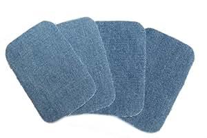 dalipo 05002 - Aufbügelflicken - Jeans 4er Pack, hellblau