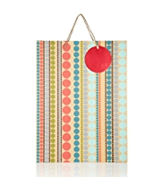 Spotty Stripes Large Gift Bag