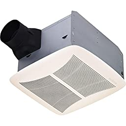Broan-NuTone QTRN110 CFM 1.5 Sone Ceiling Mounted HVI Certified Bath Fan from the U, White