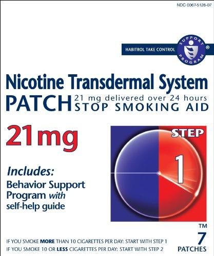 Habitrol Nicotine Transdermal System Patch Step 1 Stop Smoking Aid, 7 Count