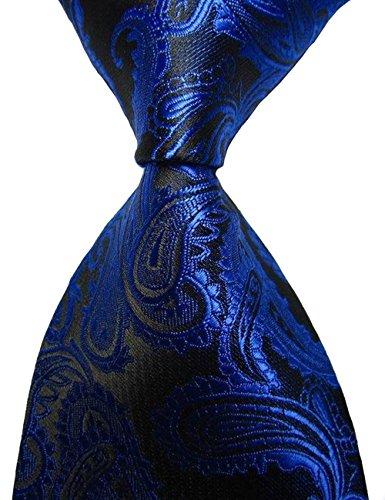 Sslr Men'S Royal Blue Paisley Jacquard Woven Neckties (One Size, Royal Blue)