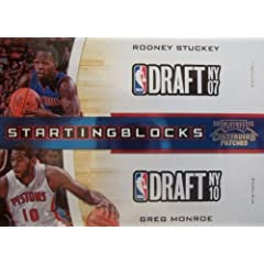 Buy 2010-11 Playoff Contenders Patches Starting Blocks Die Cuts #24 Rodney Stuckey - Greg Monroe by Panini