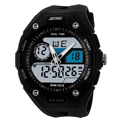 Skmei Sports Analog-Digital Watch with Stopwatch Alarm Unisex Watch – 1015WHT