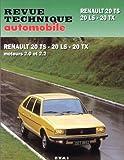 echange, troc Etai - Renault 20 TS, 20 LS, 20 TX et automatique, avec complément étude carrosserie