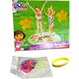 "Dora Water Spray Mat (35""), 24-pack Silicone Bracelets, And A Dora Bracelet - Dora The Explorer Toys"