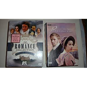 A &#038; E Romance Collection (Special Edition) &#038; Persuasion /- Pride &#038; Prejudice (1995) &#8211; Colin Firth / Victoria &#038; Albert (1997) / Emma (1997) Kate Beckinsale / Jane Eyre (1997) / Lorna Doone (1997) / The Scarlet Pimpernel (1996) / Tom Jones (1995) / Ivanhoe (1987) / &#038; BBC Persuasion (2006) Sally Hawkins