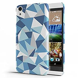 Koveru Designer Printed Protective Snap-On Durable Plastic Back Shell Case Cover for HTC Desire 826 - Blue-pink Abstraction