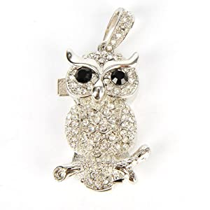 Owl Pendant USB Memory Stick Pen Flash Drive 4GB