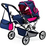 Bayer Design Doll's Pram Trendsetter (Pink/ Blue)
