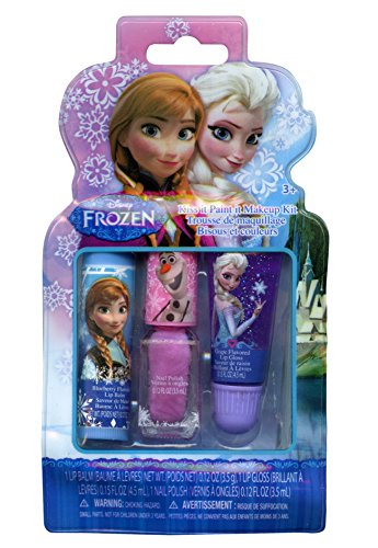 Disney Frozen Girls Kiss It Paint It 3 Piece Makeup Set front-1010073