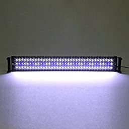 Amzdeal 30inch 90 White+ 18 Blue LED Aquarium Light for Fish Tank, 18W Aquarium Lighting and Reef Lighting(75CM)