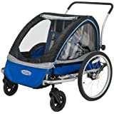 InStep Rocket 11 Bicycle Trailer, Blue/Grey
