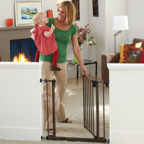 North States Industries Supergate Easy Close Metal Gate, Bronze