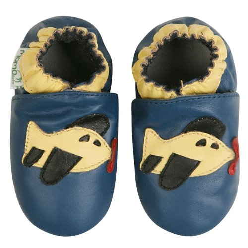 Momo Baby Soft Sole Baby Shoes - Airplane