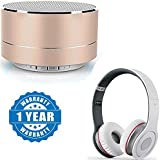 Captcha P10 Wireless 3W Super Bass Mini Metal Aluminium Alloy Portable Bluetooth Speaker With Mic With S450 Stereo Headphones With Microphone (One Year Warranty)