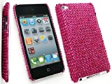 FLASH SUPERSTORE APPLE IPOD TOUCH 4 ( 4TH GEN ) DIAMANTE HARD BACK COVER DIAMANTE DARK PINK