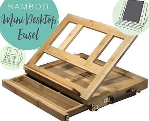 Bamboo Artist Easel for Painting and Drawing - Portable Tabletop Easel with Storage Drawer - Art Easel for Kids and Adults (Teen Art Table compare prices)