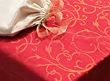 Blue Alcove Jacquard 4 Seater Table Cloth in a Gift Bag -  Red