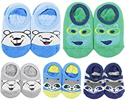 Toptim Baby Girl\'s Socks Anti Slip Skid Socks for Infants and Toddlers (Cotton Sock 5 Pairs)